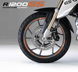 r1200gs motorcycle wheel decals rim stickers set bmw motorrad r1200 gs stripes o ebay. Black Bedroom Furniture Sets. Home Design Ideas