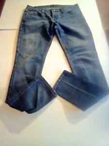 Womens-Levis-Jeans-Too-Superlow-524-Skinny-Stretch-13M-Dark-Wash-30-x-31