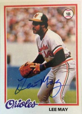 Balls Temperate Lee May Autographed 1978 Topps #640