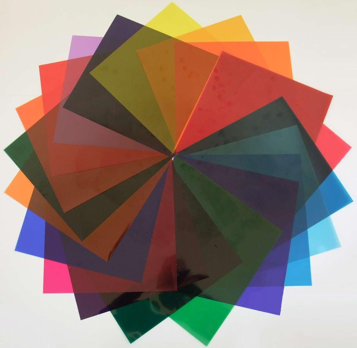 6 Set Farbfolien je 20 St. PAR-56 22,5x22,5cm Farbfilter Colour PAR 56 Farbe Mix