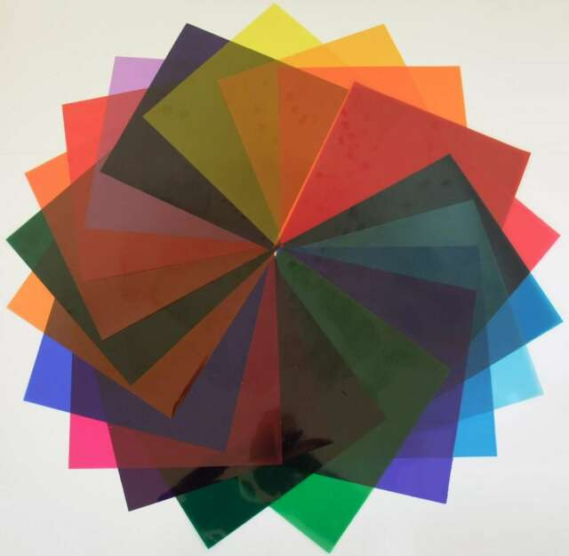 PAR-56 freie Farbauswahl PAR56 96 Stück Farbfolien Farbfilter 21 x 21 cm Gr
