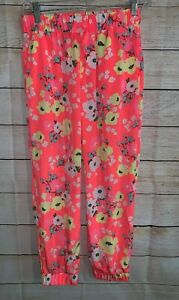 Cherokee-Pink-Bright-Floral-Pants-Size-XL-14-16-Back-To-School