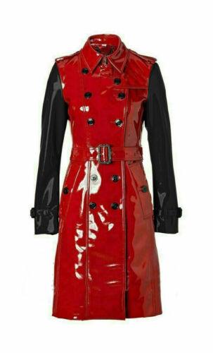 PVC Vinyl Women/'s Trench Coat Multi Colour All Sizes