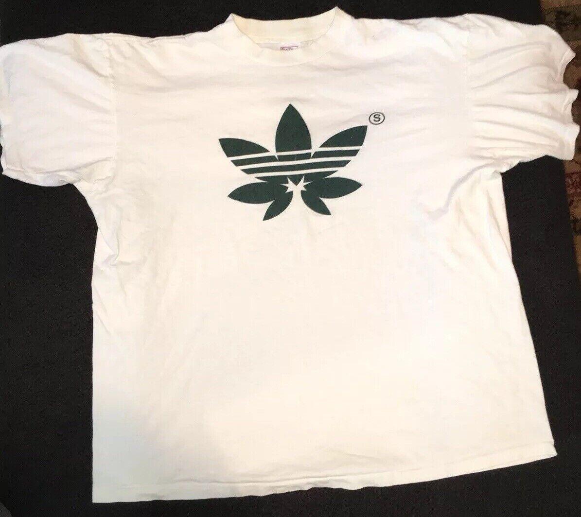 SSUR Adidas Leaf Logo Vintage T Shirt Rare Rap Tee Si… - Gem