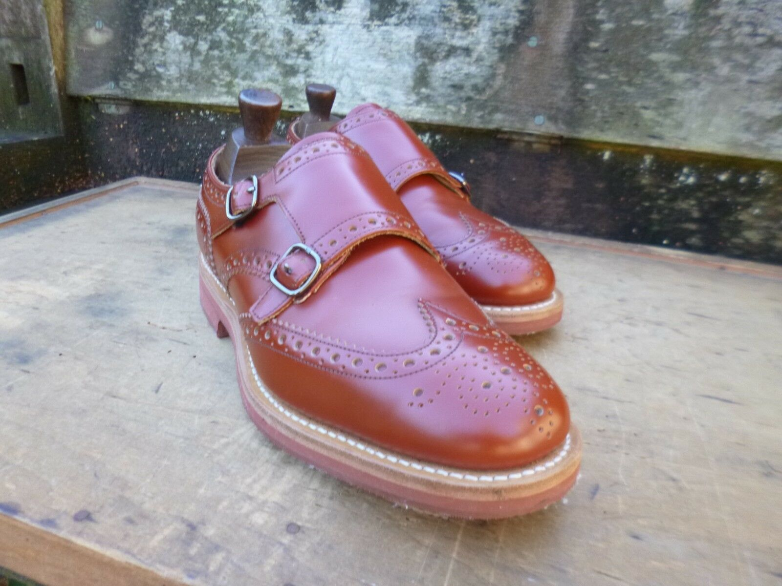 CHURCH DOUBLE MONK STRAP – BROWN   TAN – UK 6 – KELBY – WORN ONCE