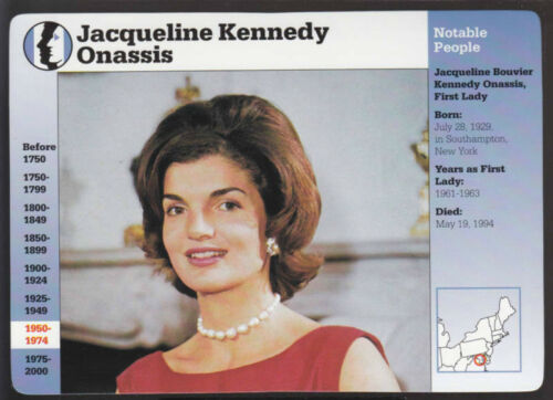 JACQUELINE KENNEDY ONASSIS Grolier Photo Biography STORY OF AMERICA CARD
