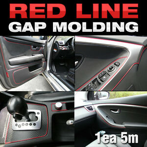 edge gap red line interior point molding accessory trim 5meter for mazda all car ebay. Black Bedroom Furniture Sets. Home Design Ideas