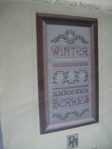Winter-Berries-Sampler-Cross-Stitch-Specialty-Stitch-Chart-64x138-Stitches-Patri