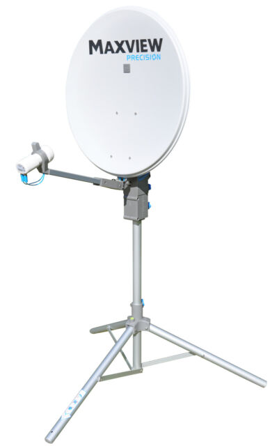 Maxview MXL012 65cm Twin LNB Precision Satellite Dish Kit for Caravan Motorhome