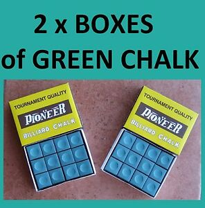2-x-BOXES-OF-GREEN-PIONEER-TOURNAMENT-CHALK-MUST