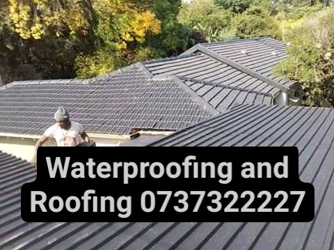 Waterproofing with liquid rubber and Thatching