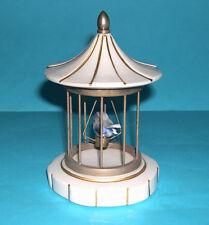 PORCELLANA di Capodimonte Ornamento ITALIA-INTERESSANTE Uccellino in gabbia - 13cm di altezza.