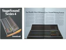 SOUNDCRAFT STAGESOUND SERIE 4 RECORDING CONSOLE BROCHURE 1985
