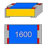 SMD-Widerstand 160 Ohm 1/% 0,1 W Bauform 0603 gegurtet