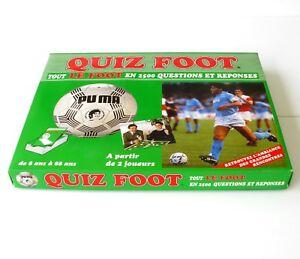 Ancien jeu de Société QUIZ FOOT - 2500 Questions et réponses -