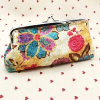 Ladies Womens Designer Small Purse Wallet Coin Fashion Clutch Bag Floral Handbag