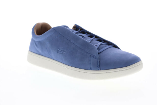 Lacoste Carnaby Evo Easy 319 1 SMA Mens Blue Leather Low Top Sneakers Shoes 13