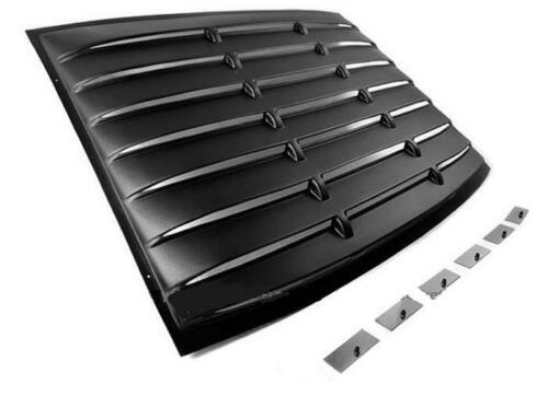 For 05-14 Ford Mustang GT Coupe Vent Rear Window Scoop Louver Shade Cover+Side