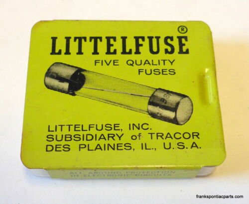 5 pack AGA 5 NOS Vintage Tin Package NEW Automotive Littelfuse Company Fuses