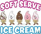 "Ice Cream Soft Serve Decal 24"" Concession Food Truck Cart Vinyl Sticker"