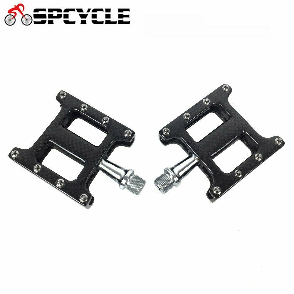 Full Carbon Bicycle Pedals CrMo Axle MTB Road Mountain Bike Pedals Flat 916