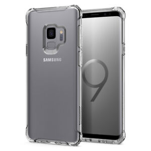 buy popular 4522d 74dc4 Details about For Galaxy S9 / S9 Plus | Spigen® [Rugged Crystal] Slim  Bumper Case Cover