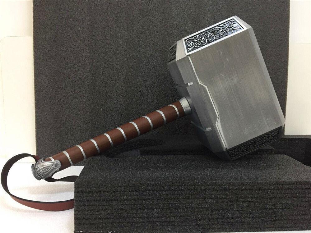Cattoys Full Metal 1 1 The Avengers Marvel Thor Hammer Model Cosplay Mjolnir