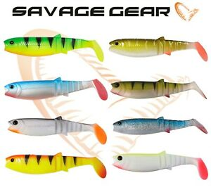 Nouveau-Savage-Gear-Cannibal-Shad-10-cm-4-034-1-4pcs-per-pack-plastique-souple-appats-de-peche