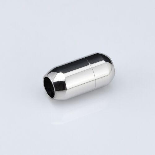 Edelstahl Magnetverschluss für Lederband Armband Verschluss Schließe Ø:6mm VS2