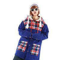 Brand 2gether Ski Snowboard Long Tall Shirt Hoodie Jacket Blair Blue