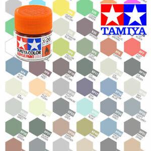 10ml TAMIYA ACRYLIC PAINTS - GLOSS, CLEAR, METALLIC COLOURS & THINNER