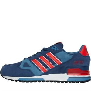 Details about ADIDAS ORIGINALS ZX 750 MENS TRAINERS BLUE/RED UK SIZES 7 TO 12