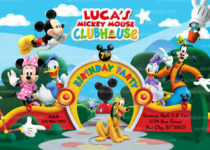 Mickey Mouse Clubhouse Invitation Mickey Mouse Birthday Party