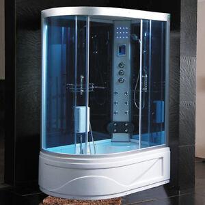 Cabina idromassaggio 130x85 box doccia con vasca sauna for Arredo bagno con box doccia