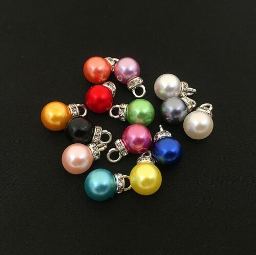 10pcs Colorful Imitation pearls pendant Hair accessories earrings pendant DIY