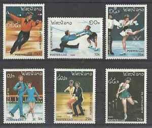 Timbres-Sports-d-039-hiver-JO-Patinage-Laos-903-8-lot-20623