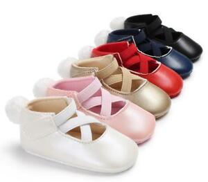 Details About Best Gift Newborn Baby Girl Ballet Shoes First Step Shoes Pre Walker Dress Shoes