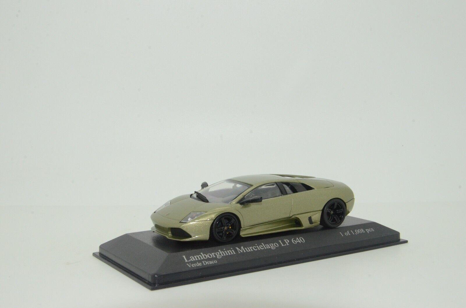 Raro  Lamborghini Murcielago LP640 2006 verde Metalizado Minichamps 103921 1 43 7afdd3