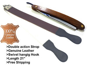 Barber-Leather-Strop-Straight-Razor-Sharpening-Shaving-Strap-with-Straight-Razor