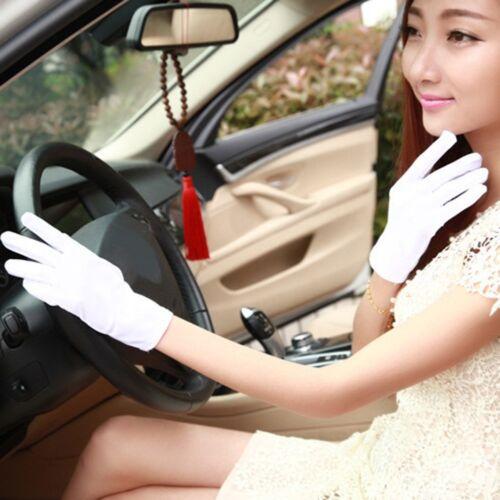 Frauen Ladies Short Wrist Gloves Smooth Satin Party Evening Wedding Dress Prom.