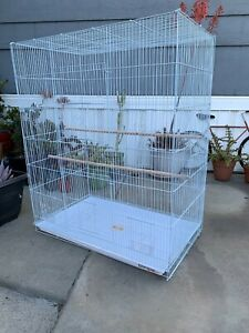 """36"""" Large Breeder Flight Bird Cage Parakeets Cockatiels Budgies Finches Aviary"""
