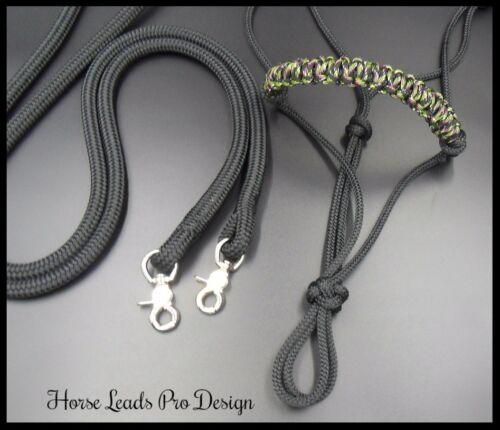 Rope Halter and Rein Set Natural Horsemanship Pro Design