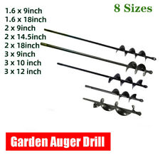 Planting Auger Spiral Hole Drill Bit Garden Yard Earth Planter Digger 8 Sizes Us