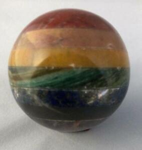 2-2-Sphere-Ball-7-Seven-Chakra-Natural-Stone-Crystal-Quartz-Healing-Reiki