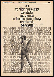 M*A*S*H__Original 1970 Trade print AD / promo / poster__INGO PREMINGER__MASH