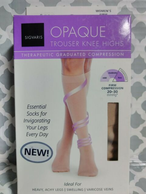 547917464eb SIGVARIS Opaque Knee High 20-30 mmHg Size B Medium 0661 for sale ...