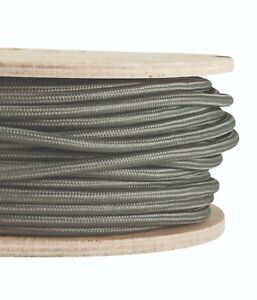 Twisted Lighting Cable Flex Sold Per Metre BLACK FABRIC CABLE Italian