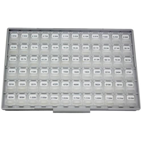 Aidetek 0201 ROHS 1/% valeur 144 x100pcs Résistance Kit en SMD Box-Tous les pièce jointe