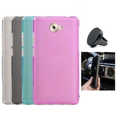 detailed look b9328 bf80a Gel Flex Cover Case for AT&T Huawei Ascend XT2 / Huawei Elate + Car Mount  Holder | eBay