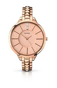 Sekonda-Women-039-s-Quartz-Watch-with-Pink-Dial-Analogue-Display-and-Rose-Gold-Stain